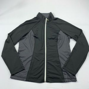 Style & Co Sport Jacket Full Zip Dotted Activewear